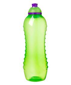 Look at this #zulilyfind! Green Twist 'n' Sip 21-Oz. Water Bottle #zulilyfinds