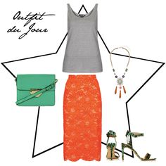 Outfit du Jour: Green and Tangerine, baby!