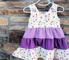 Girl's Tiered Ruffle Dress