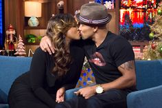 Should we be sending a big Mazel to Phaedra Parks and Shemar Moore after that steamy kiss they shared in the Clubhouse?