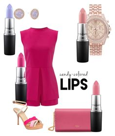 """""""Lipsticks to match"""" by colleen-malesza-tompkins on Polyvore featuring beauty, Mulberry, New Look, MAC Cosmetics, Laundry by Shelli Segal, Vera Wang and Michael Kors"""