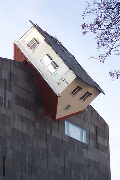 House Attack | Erwin Wurm (2006)Vienna, Austria~ Museum Moderner Kunst (MUMOK)