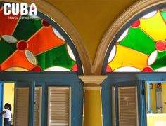 Colonial architecture in hotel Beltran, Havana, Cuba