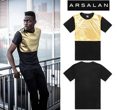 >> Click to Buy << Arsalan 2016 new arrival gold quality shiny man fashion t-shirt loose mens hiphop t shirts pu patchwork men leather t shirt #Affiliate