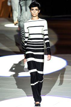 #Marc #Jacobs #stripes #rayas #black and #white #blanco y #negro #ss13 #primavera #verano #2013
