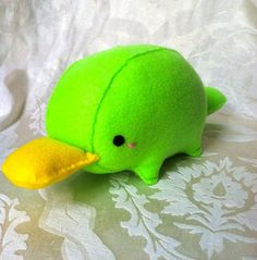 Platypus Plush. This site has a lot of cute felt plushes