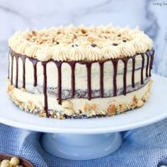 This decadent Crunchy Chocolate Hazelnut Cake has 3 layers of chocolate cake filled with creamy chocolate hazelnut ganache and frosted with praline cream. All You Need Is, Chocolate Hazelnut Cake, Toblerone Chocolate, Chocolate Boxes, Crock Pot Bread, Bread Crockpot, Bread Recipes, Cake Recipes, Butterfinger Cake