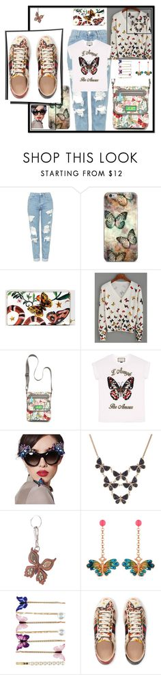 """""""Shoe Focus"""" by sinupgirl ❤ liked on Polyvore featuring Topshop, Gucci, WithChic, Lily Bloom, Anna-Karin Karlsson, Accessorize, Prada and Vernissage"""