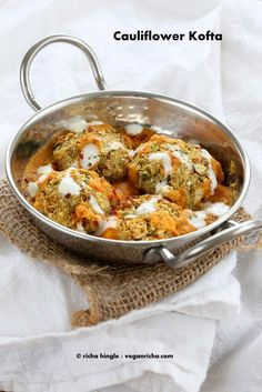Baked Cauliflower Veggie Balls in Spiced Tomato Onion Sauce. How to make Cauliflower Kofta Curry. Vegan Indian Recipe. Soy-free, easily gluten-free.