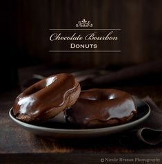 An easy recipe for wonderfully moist, cakey baked chocolate donuts covered with an espresso chocolate bourbon glaze. Chocolate Cake Donuts, Chocolate Bourbon, Chocolate Shells, Chocolate Morsels, Donut Recipes, Candy Recipes, Fall Recipes, Sweet Recipes, Yummy Recipes
