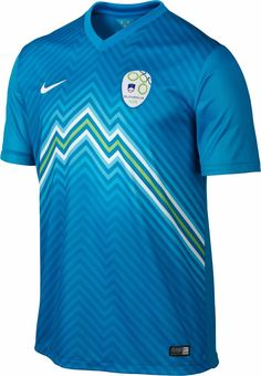 Slovenia Away Jersey 2014 - This is a Brand New Football Shirt that Will be Worn for EURO 2016 Qualifying. Order Yours Now at Soccer Box. New Football Shirts, Team T Shirts, Football Kits, Soccer Shirts, Sport Football, Football Jerseys, Sports Jerseys, Rugby, Sports Jersey Design