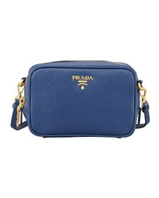 90acc01d17 Prada Saffiano Mini Zip Crossbody Bag
