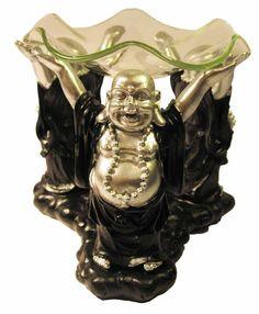 Blije Boeddha's aromabrander voor etherische olie in te verwarmen en een heerlijke geur te verspreiden in de kamer. €14,95