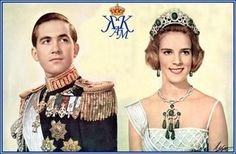 Royal Rich Famous: King Constantine and Queen Anne-Marie Greek Royal Family, Danish Royal Family, Queen Anne, King Queen, Adele, Olympia, Constantine Ii Of Greece, Greek Royalty, Anne Maria