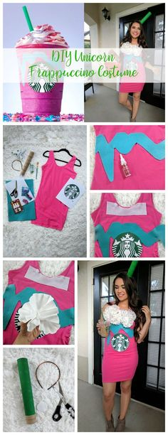 how to make a starbucks frappuccino halloween costume