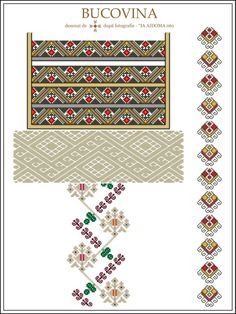 (1) Gallery.ru / Фото #33 - Буковина - румынские схемы - bdancer Folk Embroidery, Cross Stitch Embroidery, Embroidery Patterns, Cross Stitch Charts, Cross Stitch Patterns, Palestinian Embroidery, All Craft, Mosaic Art, Cross Stitching