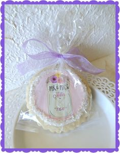Sugar Cookie Wedding Favors-Dessert Table Thank You Gift