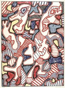 'Affairement' (1964) by Jean Dubuffet
