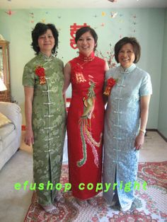 Sarah Eap - Custom-made Cheongsam,Chinese clothes, Qipao, Chinese Dresses, chinese clothing,EFU Tailor Shop