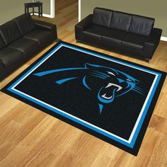 Carolina Panthers 8x10 Rug