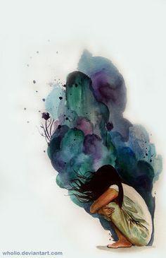 Illustration by Julius Sebastien Illusion Kunst, Mental Health Art, Creation Art, Wow Art, Pics Art, Dark Art, Art Inspo, Painting & Drawing, Amazing Art