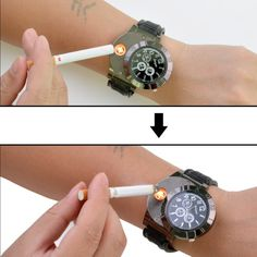 New Military Electronic Lighter/Watch