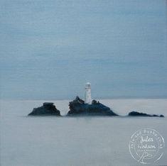 Sea Mist Over Godrevy  -  Jules @ Juju & Bubba Art & Illustration