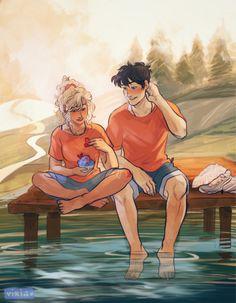 Percy Jackson and Annabeth Chace Percy Jackson Art, Fan Art