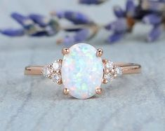 HANDMADE RINGS & BRIDAL SETS by MoissaniteRings on Etsy Bridal Ring Sets, Handmade Rings, Opal, Trending Outfits, Unique Jewelry, Engagement Rings, Gifts, Etsy, Vintage
