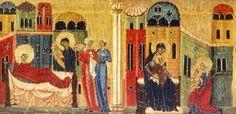 Maestro anonimo senese - Incidenti della Vita di San Giovanni Battista (particolare) - 13° secolo - Tempera su tavola - Pinacoteca Nazionale, Siena