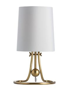 "Arteriors lamp $139 reg $480 7½"" - 13"" W x 9½"" D x 7½"" - 13"" H Shade top 7½"" DIA x 10"" H Shade bottom 8½"" DIA x 10"" H"