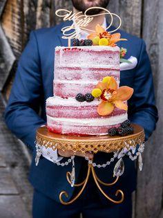 Barely there wedding cake - Aida Malik Photography