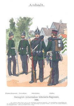 Band X #13. -Herzogl. Anhaltisches Inf. Rgt. 1866.
