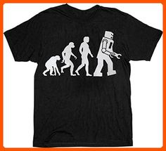 The Big Bang Theory Robot Evolution T-shirt Tee (XXXX-Large 4X, Black) - Cool and funny shirts (*Amazon Partner-Link)