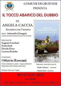 Presentazione silloge Il tocco abarico del dubbio di Angela Caccia