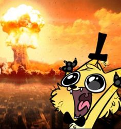 Is that Bill cipher? <--that has to be bill...<----Yeah, thats just Bill in a cat body...