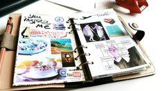 Seaweed Kisses: DIY Filofax Planner Vision Board | journal and mood board inspiration |  digital media arts college | www.dmac.edu | 561.391.1148