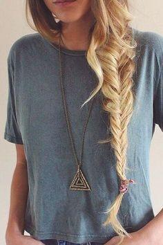 I love messy braids like this but my hair is only a little past shoulder length it's pretty long just not long enough to make a good messy braid
