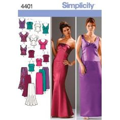 "Simplicity Pattern 7046 BB-evening skirt & top size. 46-54 Top-price ""pattern skirt"