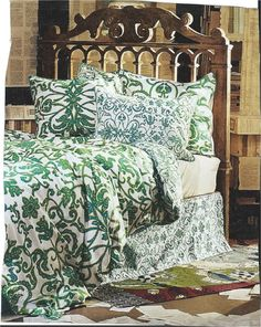 Superb Blue Green Bedroom, I Like This Spread Blue Green Bedrooms, Bedroom Green,  Bedspread