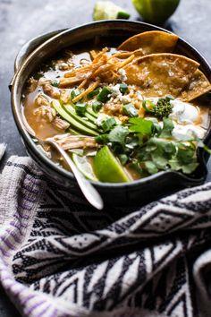 Salsa Verde Chicken and Rice Tortilla Soup | halfbakedharvest.com @hbharvest