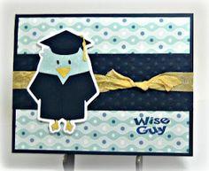 """Wise Guy"" Cricut graduation card"