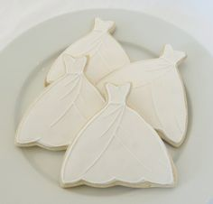 bridal gown decorated cookie | Share
