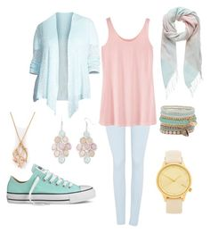 pastell pt. 2 by biebersfuturegirl on Polyvore featuring Eileen Fisher, 7 For All Mankind, Converse, Komono, ALDO, Arizona, Shaun Leane and Forever New