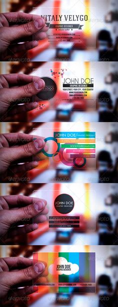 5 in 1 Transparent Business Cards -