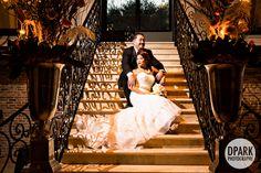bell tower on 34th street romantics wedding stairs