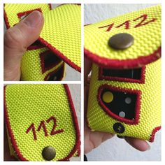 Meldertasche/Gürteltasche aus Feuerwehrschlauch Swissphone Boss  112