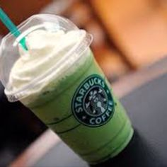 Starbucks Green Tea Frappucino. these are like my favorite things. like ever