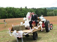 wedding tractor - Google Search
