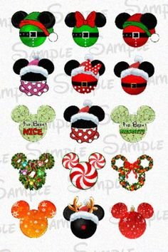 Digital downloads are so convenient and easy. You get the file within hours, set and ready to go! Cut them out with a 1 inch hole punch to create bottle caps, magnets, jewelry and more.    This sale is for the DIGITAL FILE of the 1 inch bottle cap sheet of Christmas inspired Mouse